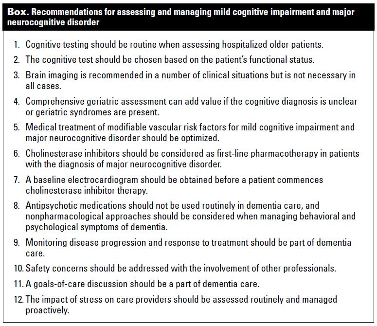 Twelve tips for assessing and managing mild cognitive impairment ...