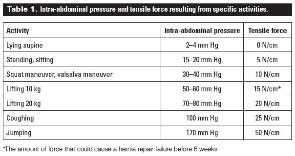 Timing of return to work after hernia repair: Recommendations based