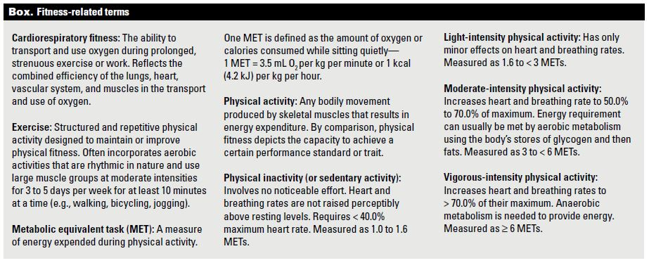 The health benefits of physical activity and cardiorespiratory