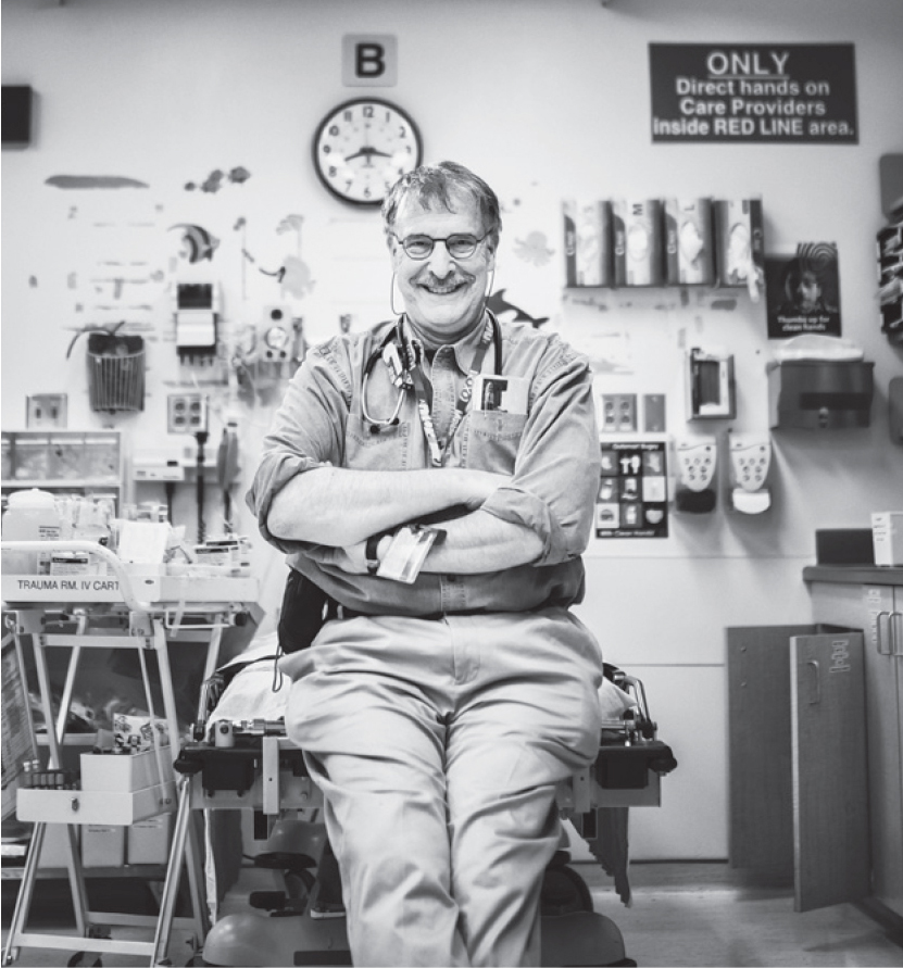 Dr David Haughton's last shift at the BC Children's Hospital emergency department.