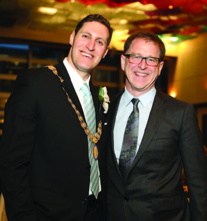 Dr Eric Cadesky with the Hon. Adrian Dix, Minister of Health