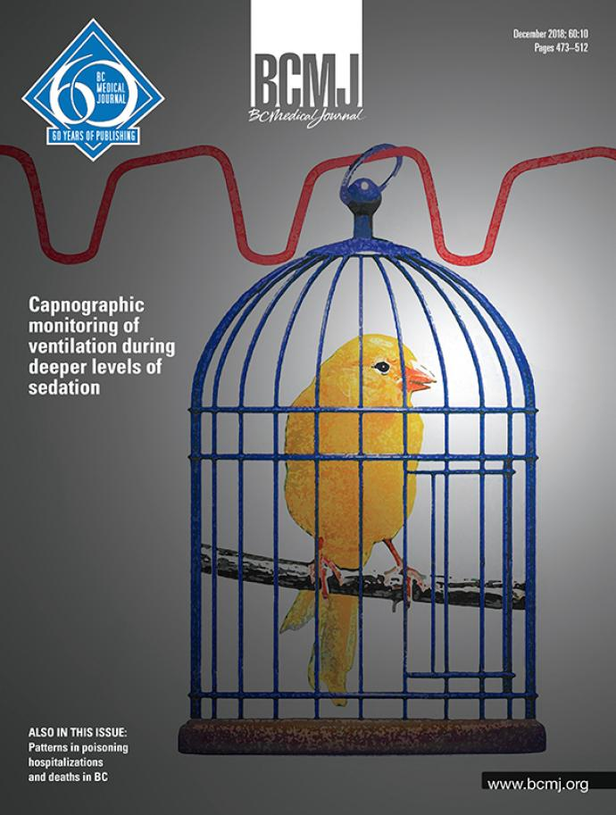 BCMJ Volume 60 Number 10 cover
