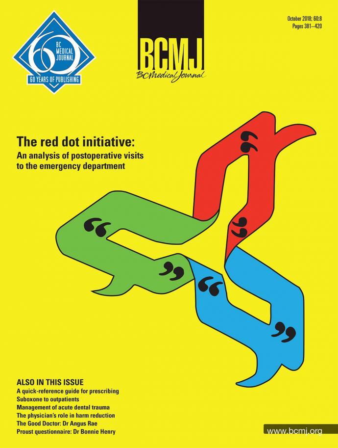 BCMJ Vol 60 No 8 cover