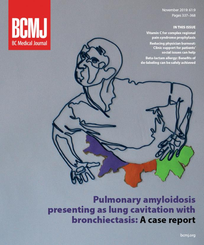 BCMJ Vol 61 No 9 cover