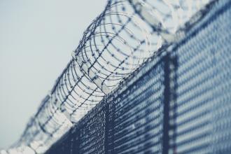 A fence around a prison