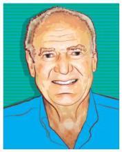 proust cartoon portrait of Peter Allen