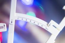 Skinfold calipers to measure body fat percentage