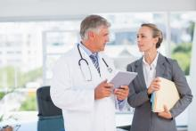 A medical doctor and a psychiatrist consult about a patient