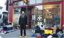 Ronnie Grigg outside Vancouver's Overdose Prevention Society.