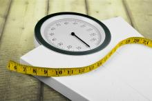 A scale and a measuring tape