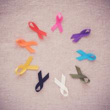 Colorful ribbons, cancer awareness, World cancer day