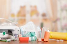 Different equipment ranging from inhalers to respiratory masks