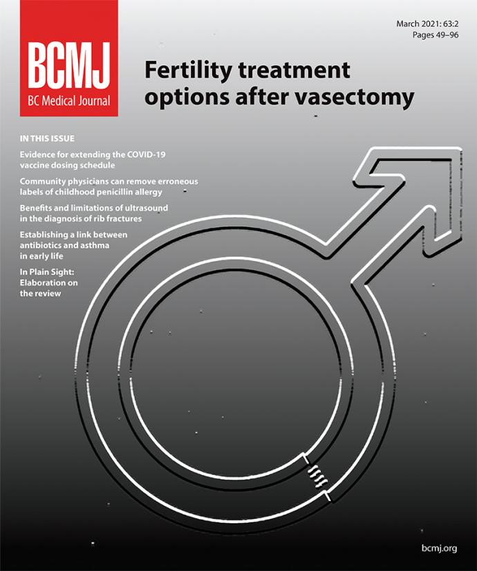 BCMJ Vol 63 No 2 cover