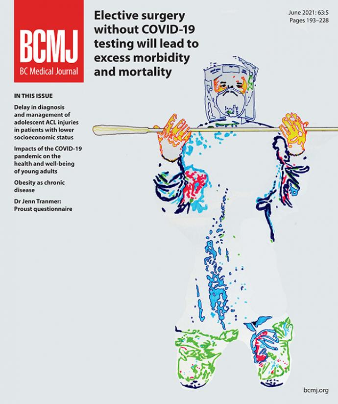 BCMJ Vol 63 No 5 cover