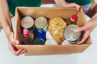 A box of nonperishable food