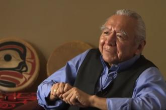 The video and discussion guide, A Coming Together of Health Systems, features traditional practitioners, Elders, and Western health care professionals. Elder Gerry Oleman is pictured.