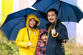Dr Matthew Chow and his family