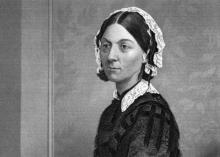 Florence Nightingale (1820-1910). Celebrated English social reformer, statistician, and founder of modern nursing.