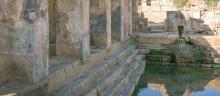 Roman baths ruins in Fordongianus