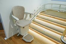 An automatic stair lift