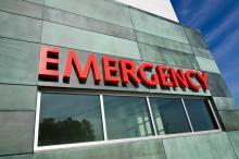 A hospital Emergency sign