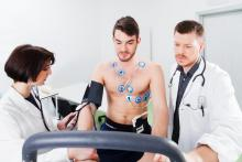 cardio screening of the electrocardiogram of young athletes
