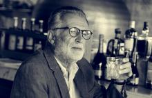 Senior Man Hangout Drinking Alcohol in a Pub