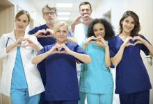 Group of physicians with love and focus on their job